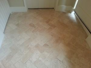 Travertine Tiled Floor Before