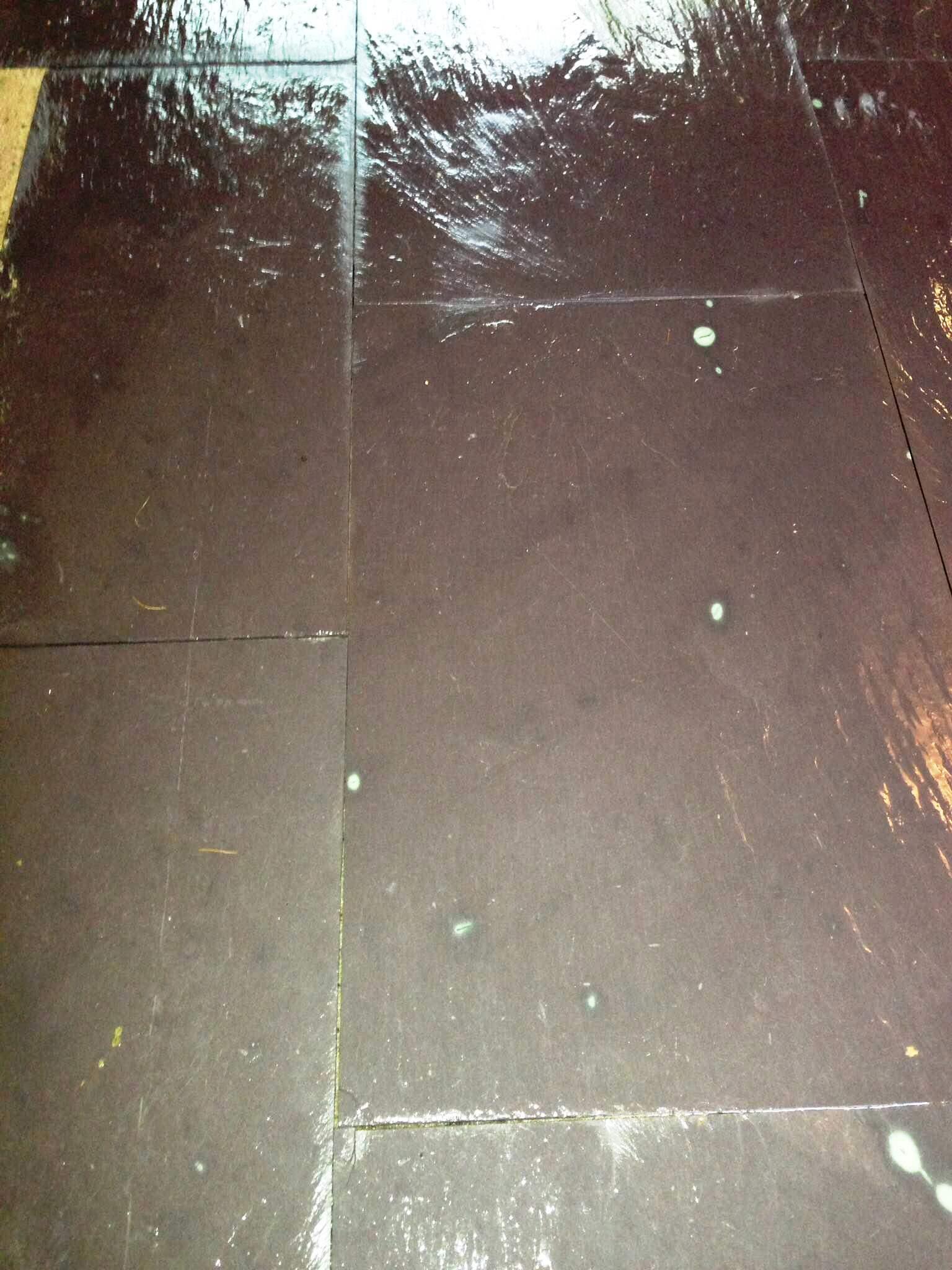 Slate Tiled Floor Hastings After Sealing