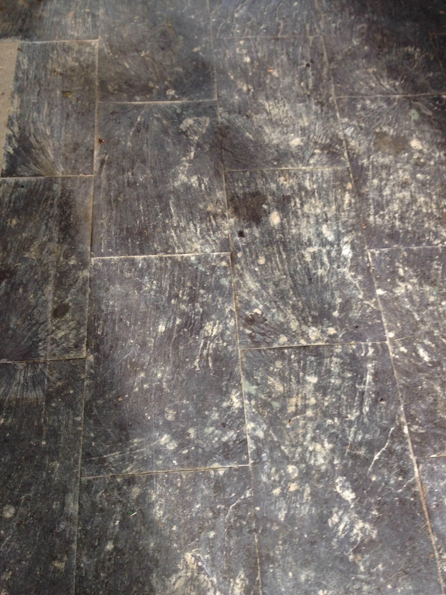Slate Tiled Floor Hastings Before Cleaning