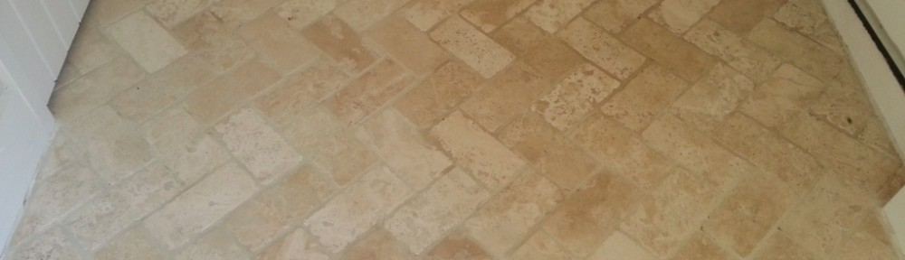 Travertine Tiled Floor Maintained in Horsham