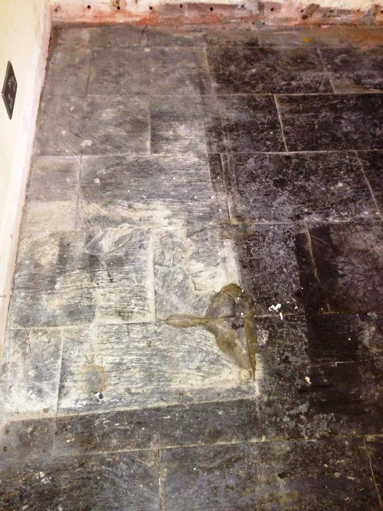Slate Tiled Floor Hastings Before Cleaning