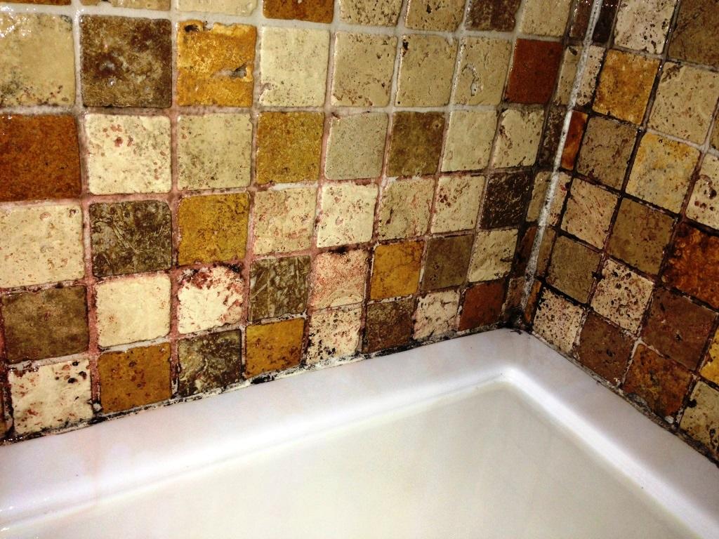 Travertine Bathroom ensuite Before clean and seal Horsham