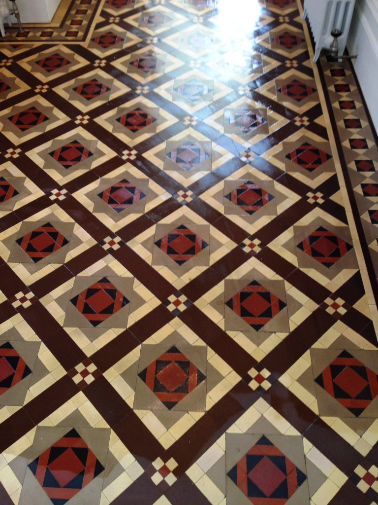 Victorian Tiled Floor After Restoration Eastbourne