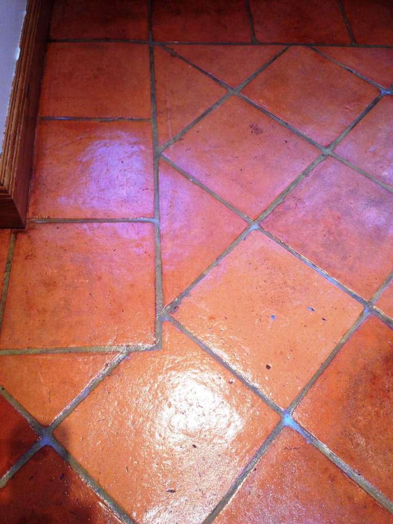 Terracotta Tiles After Cleaning Bognor Regis